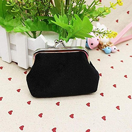 wallets Clutch Clearance Hasp Wallet Mini Lady 2018 Wallet Purse small Corduroy Black cute Coin Bag Noopvan 6wU5qvHx