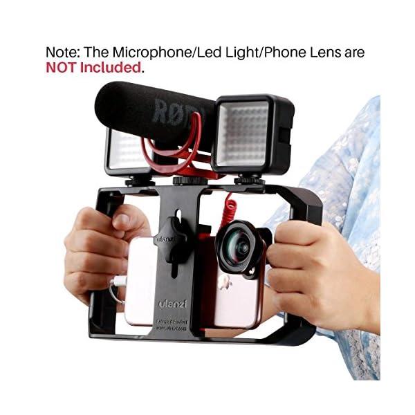 ULANZI U Rig Pro Smartphone Video Rig, Filmmaking Case, Phone Video Stabilizer Grip Tripod Mount for Videomaker Film-Maker Video-grapher for iPhone Xs XS Max XR iPhone X 8 Plus Samsung 1