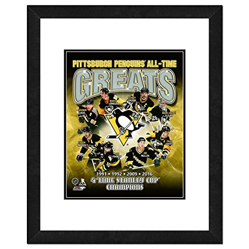 NHL Pittsburgh Penguins Men's Mario Lemieux All Time Greats Framed Photo, One Size