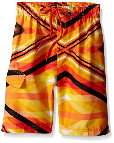 Kanu Surf Little Boys' Energy Swim Trunk, Orange, Medium (5/6) - Kid Trunks