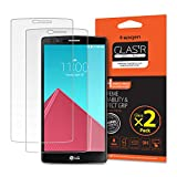 LG G4 Screen Protector, Spigen® [Tempered Glass] [2 Pack] G4 Glass Screen Protector [Easy-Install Wing] [Lifetime Warranty] -2 Pack