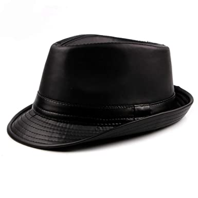 fb0397601600f Classic Fedora Hat for Men Women Waterproof Leather Unisex Timeless Casual  Retro Short Brim Jazz Hats