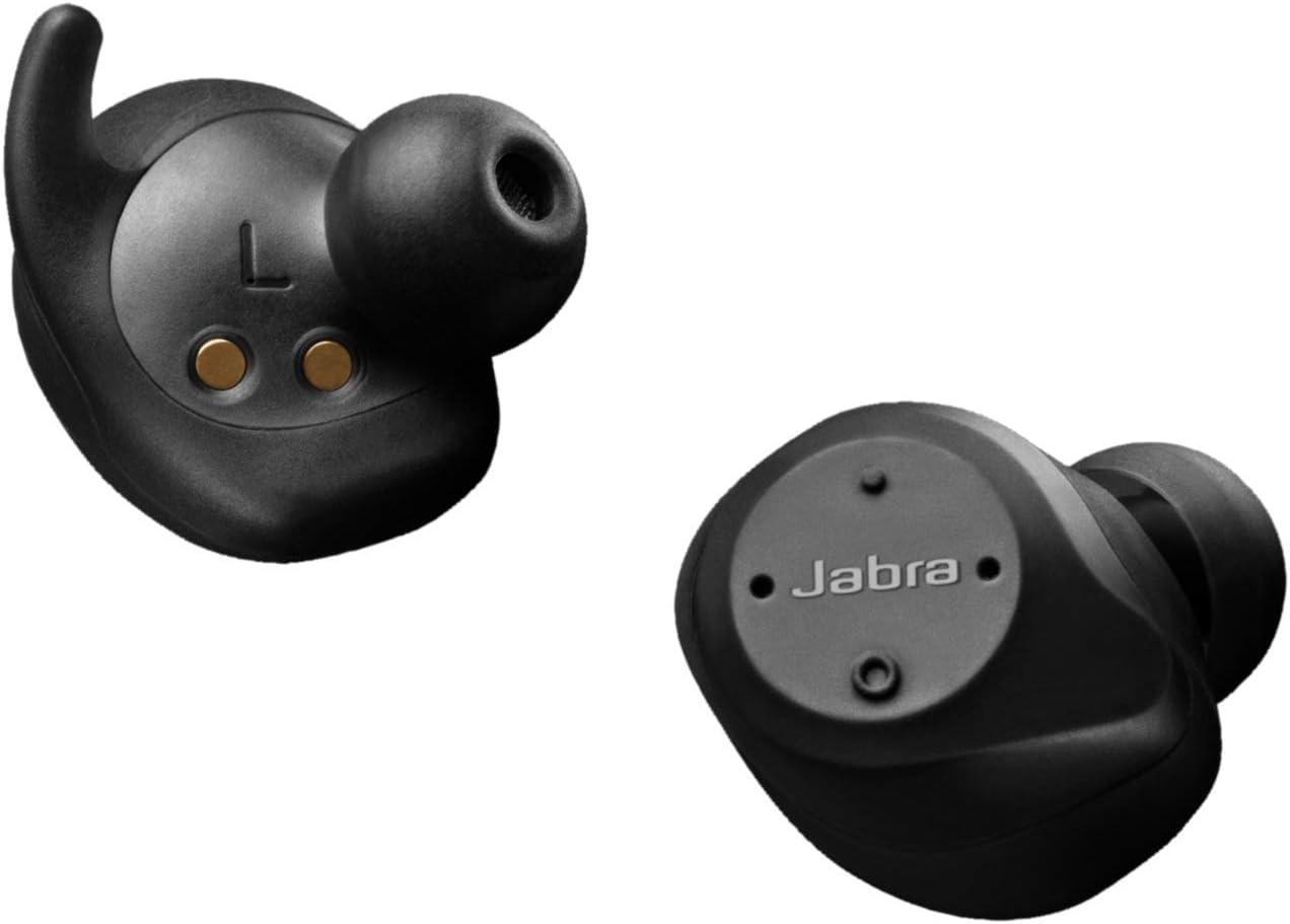 Jabra Elite Sport auriculares estéreo totalmente inalámbricos con Bluetooth, para deporte, negro