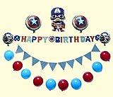 dolphin1986 Captain America, Happy birthday Letters alphabet, foil balloon decoration, celebration party decoration (Happy birthday decoration-C)