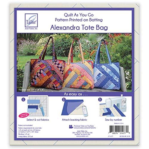 June Tailor Quilt As You Go Alexandra Tote Bag