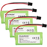 Floureon 4 Packs 2.4V 900mAh Rechargeable Cordless Phone Telephone batteries for Uniden BT-1021 BT1021 BT-1008 BT-1016