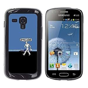 CASEX Cases / Samsung Galaxy S Duos S7562 / Getting Loaded - Funny # / Delgado Negro Plástico caso cubierta Shell Armor Funda Case Cover Slim Armor Defender