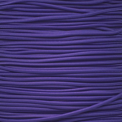 PARACORD PLANET 1/8 Inch Shock Cord - Choose from 10, 25, 50, and 100 Feet - Made in USA (Purple, 50 Feet) by PARACORD PLANET