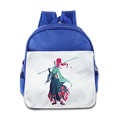 Undertale Hakama Undyne Kimono Toddler Kids Shoulder School Bag RoyalBlue