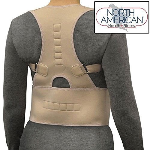 Posture Corrector Magnetic Back Shoulder Brace Belt Adjustable LARGE for Waist 38-48 As Seen on TV by North American