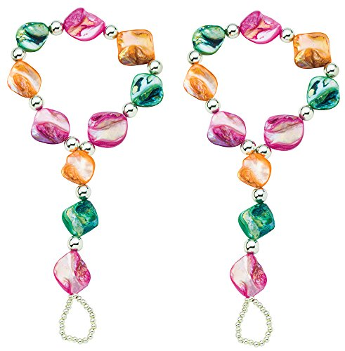 - The Paragon Barefoot Jewelry - Beaded Anklet and Toe Ring 2 pc. Set (Medium)