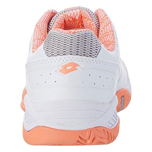 Lotto T-Tour Ix 600 W, Zapatillas de Tenis para Mujer Weiß (WHT/ROS NEO)