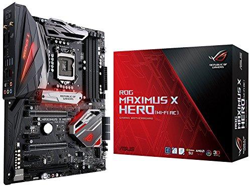 ASUS ROG Maximus X Hero (Wi-Fi AC) LGA1151 DDR4 DP HDMI M.2 Z370 ATX Motherboard with onboard 802.11ac WiFi