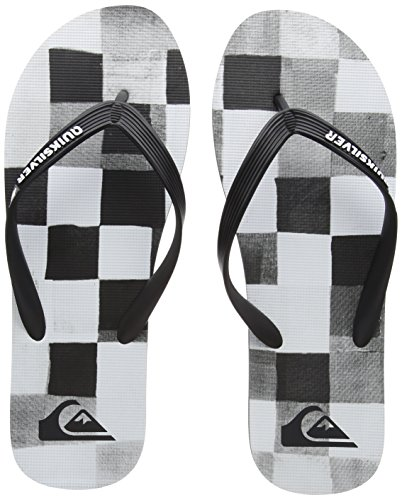 White Resin Quiksilver Hombre Black para Grey Gris Check Molokai Xkws Chanclas Combo 88nrq4R