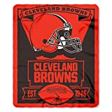 "NFL Cleveland Browns Marque Printed Fleece Throw, 50"" x 60"""