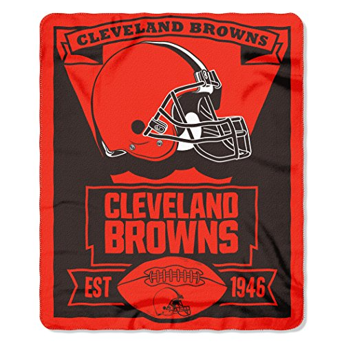 603d44ee340 NFL Cleveland Browns Marque Printed Fleece Throw