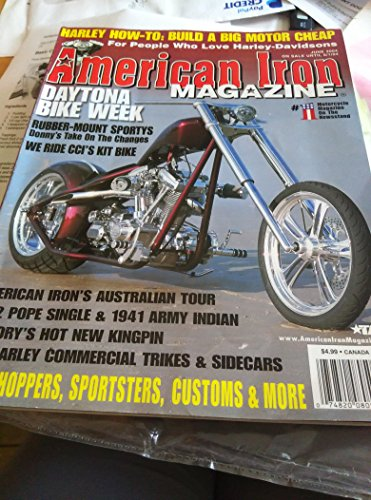 American Iron Magazine - June 2004 (For People Who Love Harley-Davidsons) (Harley How-To: Buid a Big Motor Cheap. Old Harley Commercial Trikes & Sidecars, - Commercial Trike