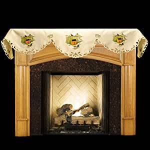 Amazon.com: Fall Fireplace Mantel Scarf with Horse and