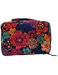 Vera Bradley Large Blush & Brush Makeup Case (Floral Fiesta with solid black lining)