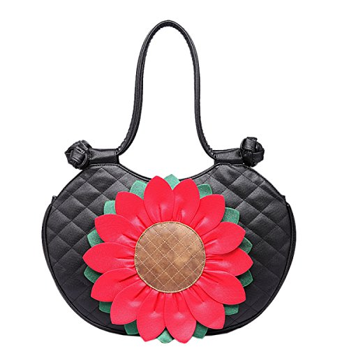 Style Leather Bags Top handle Yellow Sun Shoulder Bag Flower Handbag Ethnic Female vI046wq0