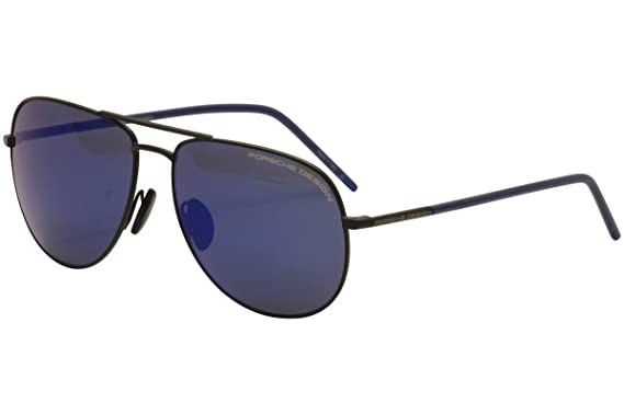 6af4410ce345 Porsche Design Men s P8629 P 8629 D Black Navy Blue Aviator Sunglasses 60mm