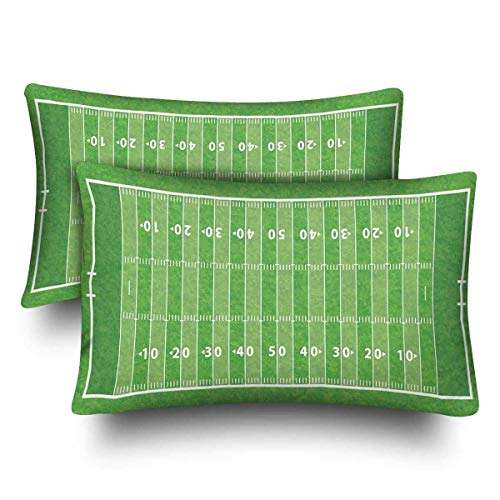 SPXUBZ Kids Sports Football Field American Home Decor Gift Rectangular Indoor Cotton Pillowcase (Two Sides),2PC -