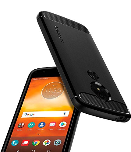 Spigen Rugged Armor Moto E5 Play Case with Flexible and Durable Shock Absorption with Carbon Fiber Design for Motorola Moto E5 Play (2018) - Black by Spigen (Image #4)