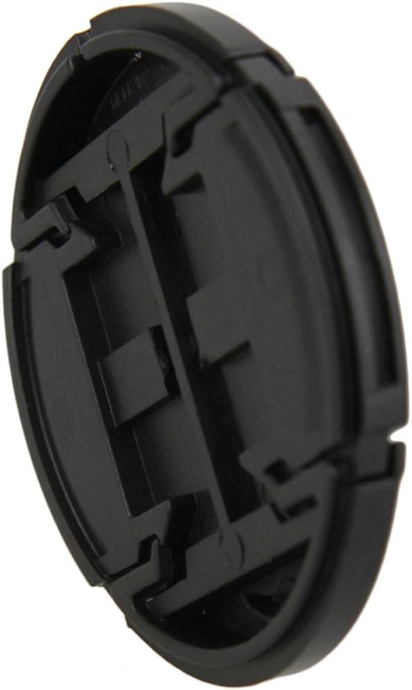 JJC 49/mm ansteckbare Schutzabdeckung f/ür Objektivdeckel mit Halter f/ür DSLR-Kamera schwarz