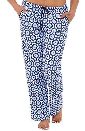Womens Flannel Pajama Pants, Long Cotton Pj Bottoms, XL Moroccan Dream (A0703Q81XL) ()