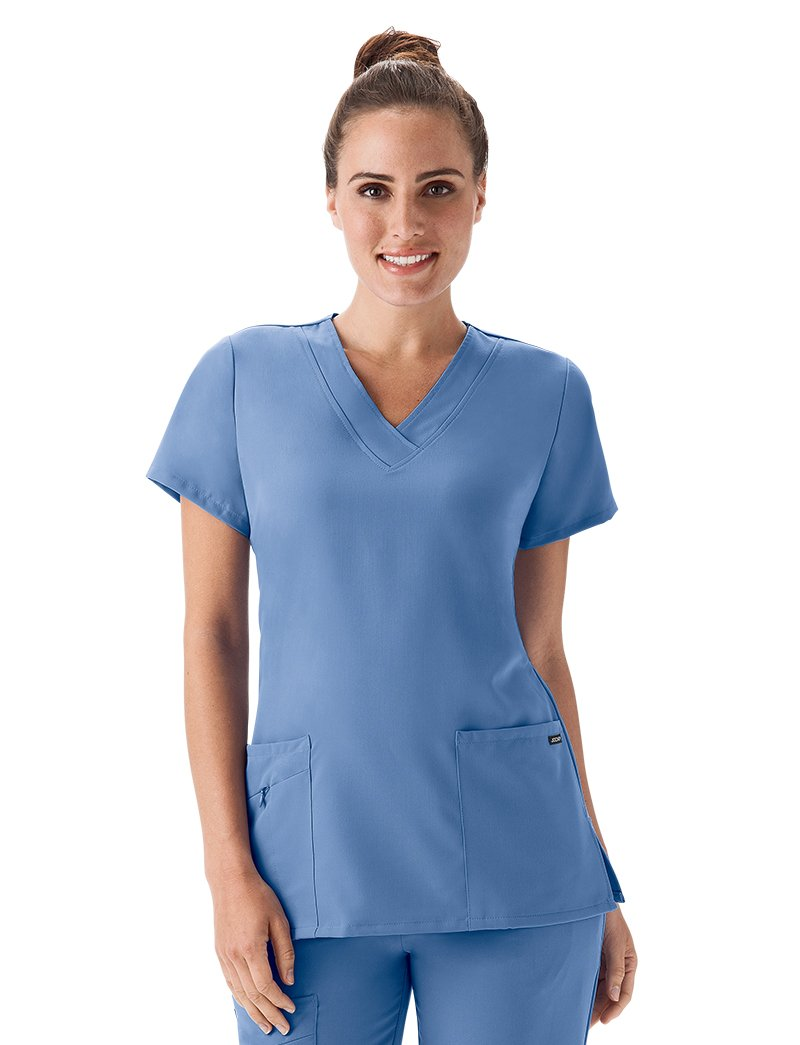 Classic Fit Collection by Jockey Women's Tri Blend Solid Scrub Top XX-Large Ceil