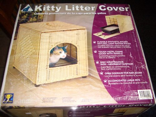 Cat Villa Kitty Litter Cover New in - Box Litter Brown Cover Wicker