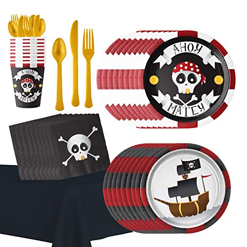 Pirate Themed Birthday Party Supplies: Hold the Balloon Ahoy Matey Party Accessories and -