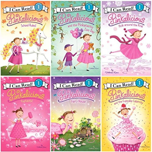 Pinkalicious 6 Pack - Pinkalicious and the Cupcake Calamity, Puptastic, Pink Around the Rink, Pinkatastic Zoo Day, Pinkalicious Fairy House, School ()