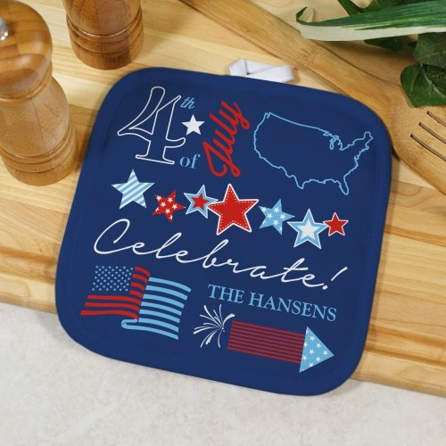 GiftsForYouNow 4th of July Personalized Pot Holder, 8