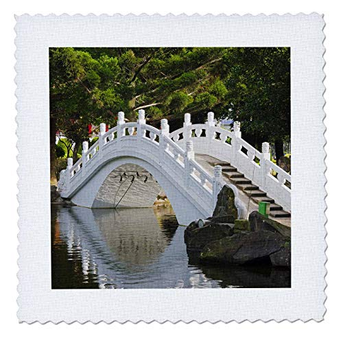 3dRose Danita Delimont - Taiwan - Bridge in Liberty Square, AKA Freedom Square, garden, Taipei, Taiwan - 25x25 inch quilt square (qs_312810_10) (Best Architecture In Taipei)