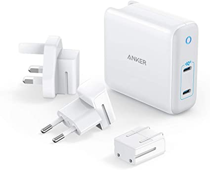 Amazon.com: USB C Charger, Anker 60W GaN & PIQ 3.0 2-Port Type-C ...