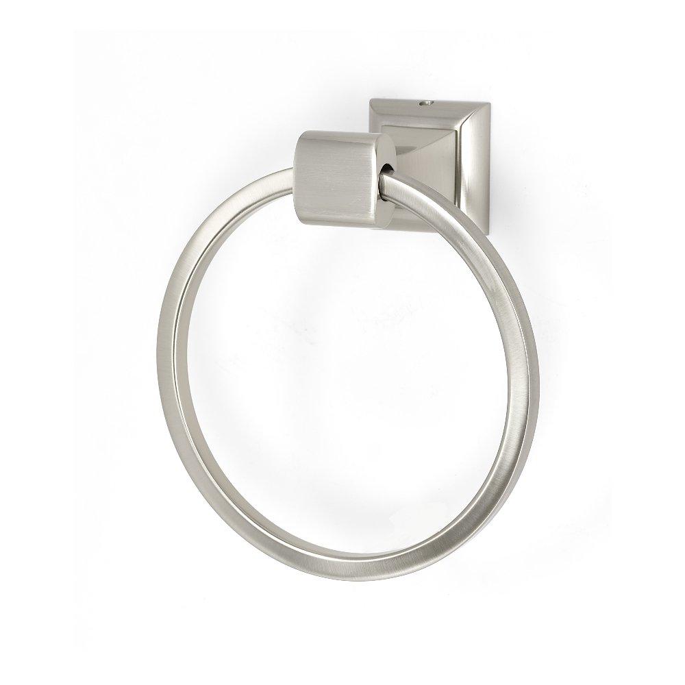 Alno A7440-SN Manhattan Modern Towel Rings, Satin Nickel, 6-1/8''