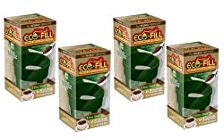 Eco-Fill Reusable Coffee Filter for Cusinart/Breville/Keurig Single Serve K-Cup Coffee Brewers- 4 Pack by Arm Enterprises