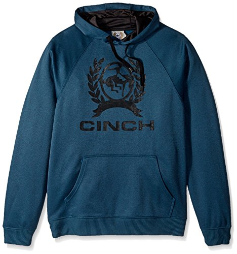 Cinch Men's Hooded Sweatshirt, Heather Green, L (Mens Cinch)