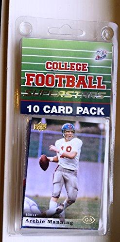 10 card pack college football ole miss rebels different superstars starter kit
