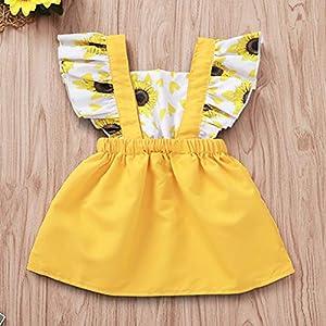 0-2Years,SO-buts Newborn Infant Baby Girls Ruffled Sunflower Print Dress Sundress Summer Clothes Casual Dress