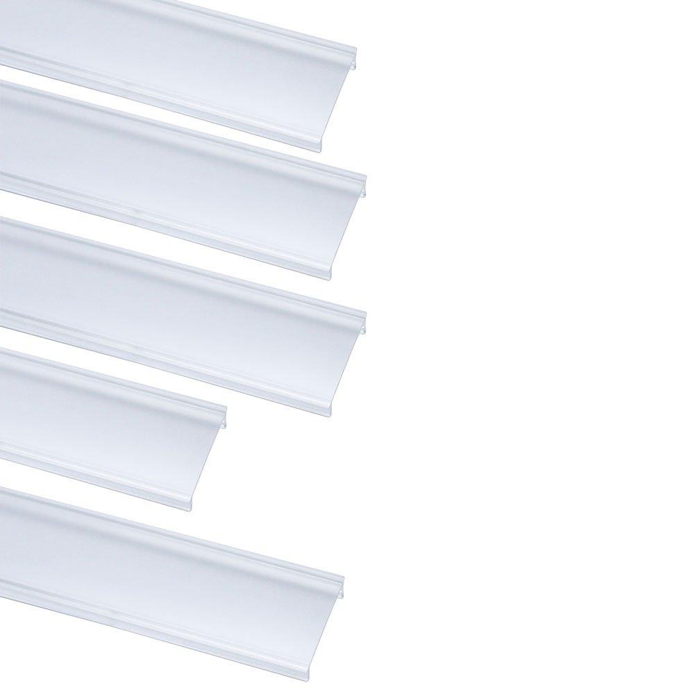 LightingWill LED Aluminum Channel Transparent Cover for U03 U04 U05 U06 Style 1M/3.3ft 5 Pack by LightingWill (Image #1)