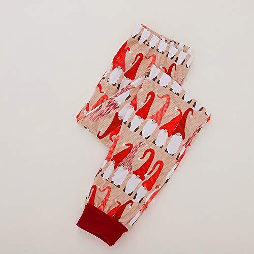 Manica T 2pc Babbo Regali Uomo Bambini Set Pantaloni Di Pigiama Abiti Abbigliamento Homebaby Notte Per Mamma Natalizi Donna Tuta Da Natale shirt La Casual Lunga Famiglia Donne H7TqCw