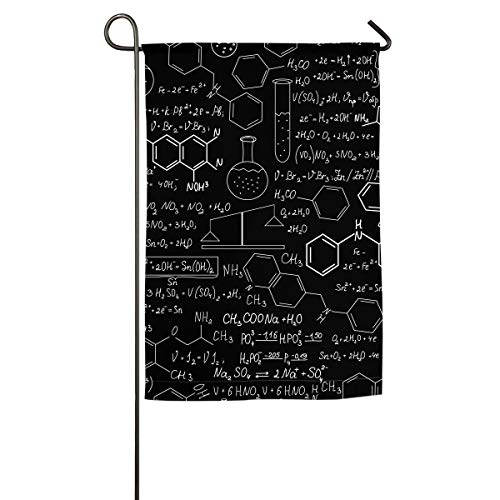 JIAQI Chemistry Blackboard Assortment of 12 X 18 Inch Holiday Yard Flags - Premium Quality Durable Material-Double Sided Colorful Design for All Seasons and Holidays