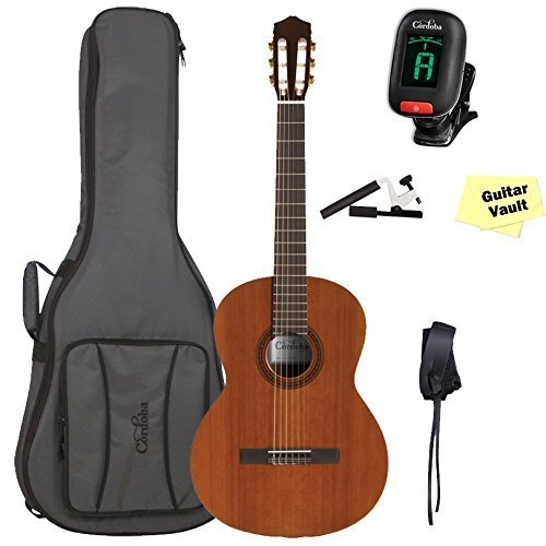 Cordoba C5 Acoustic Nylon String Classical Guitar With Cordoba Deluxe Gig Bag and Accessory Pack ()
