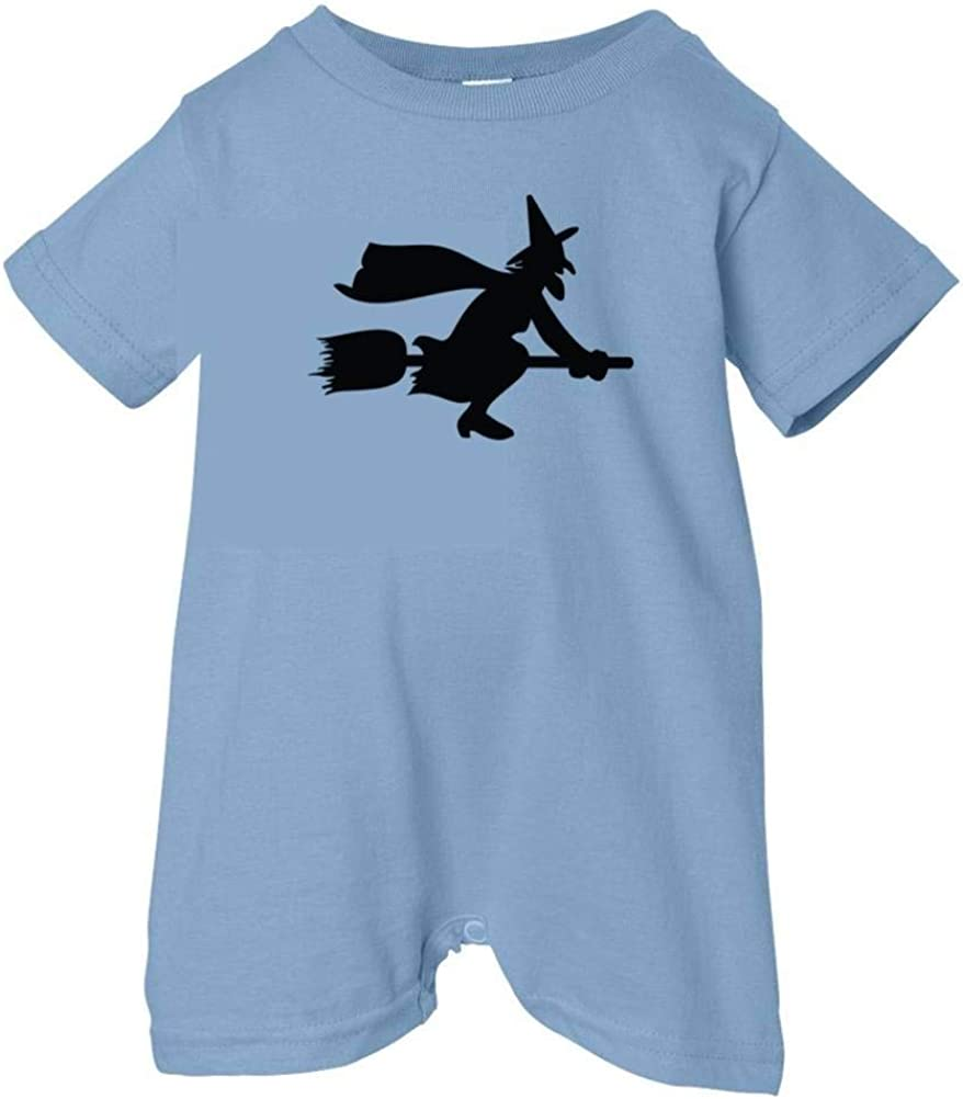Festive Threads Unisex Baby Flying Witch T-Shirt Romper