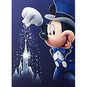5D Diamond Painting Kits Full Drill Disney Diamond Embroidery 30x40cm,Mickey Mouse Diamond Kit Home Wall Decor 12x16Inch -33