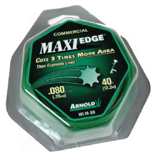 Arnold Maxi-Edge .08-Inch x 40-Foot Residential Grade String Trimmer Line ()