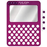 Five Star Locker Mirror and Board, Magnetic, Push Pin, School Locker Accessories, 6'' x 8'', Color Selected for You (81066)