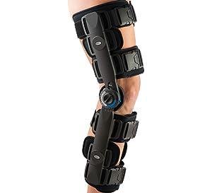 FitPro Adjustable Range of Motion Post-Op Knee Stabilizer Brace with Cool Wrap, Regular, Amazon Exclusive Brand